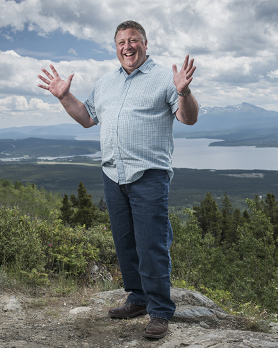 Yukon University employee Gord Curran in Teslin