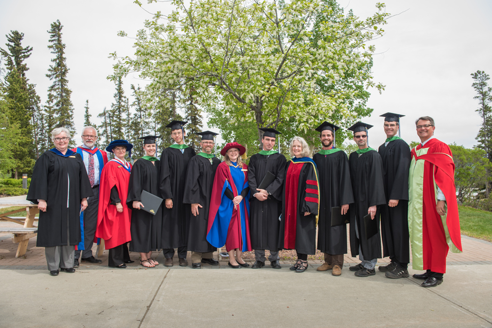 Group of faculty and graduates