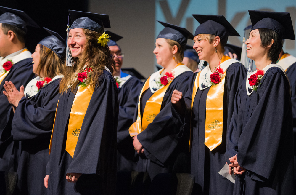 Yukon College grads in gowns