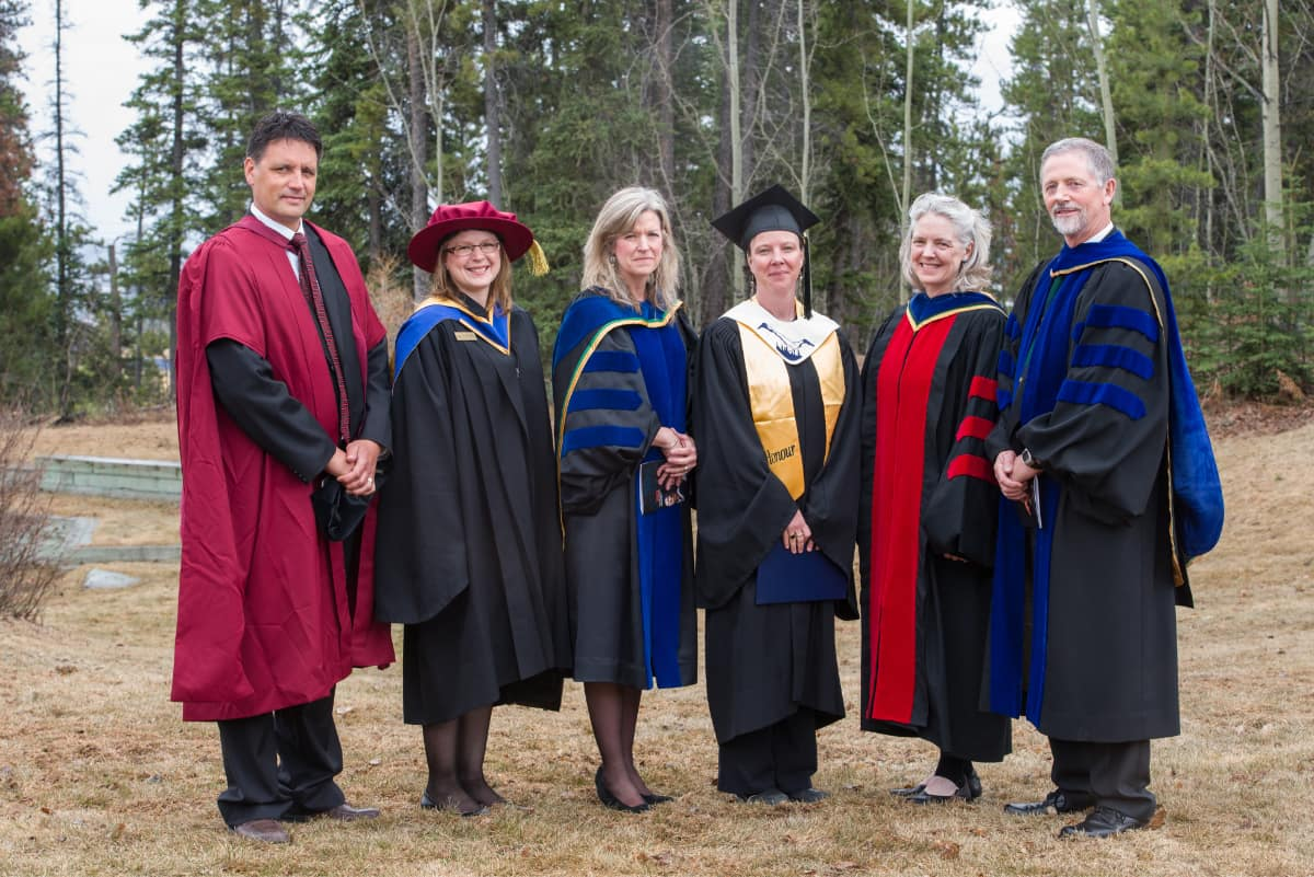 faculty in gowns
