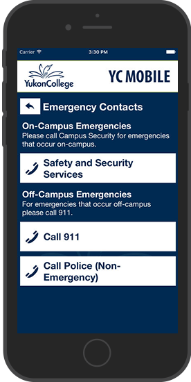 YC Mobile App Emergency Contacts