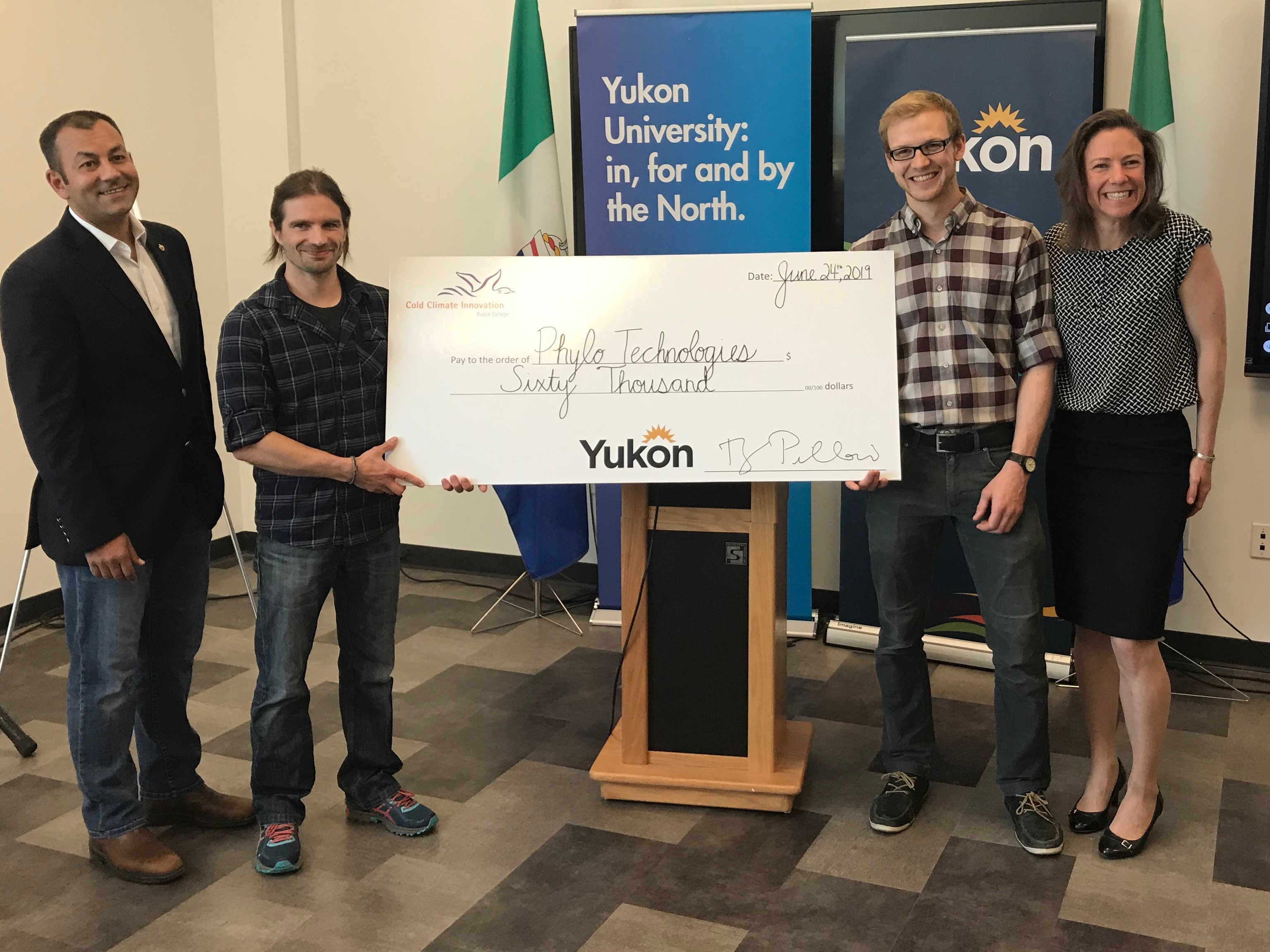 YIP cheque presentation