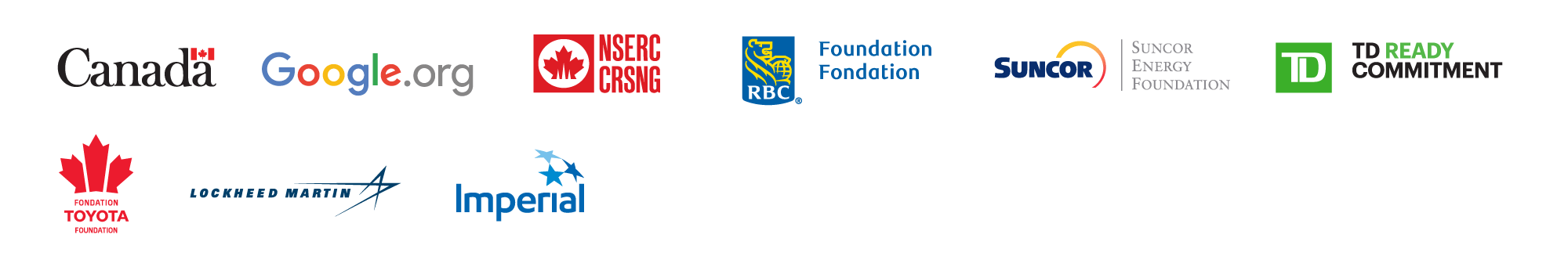 Logos of Actua national funders