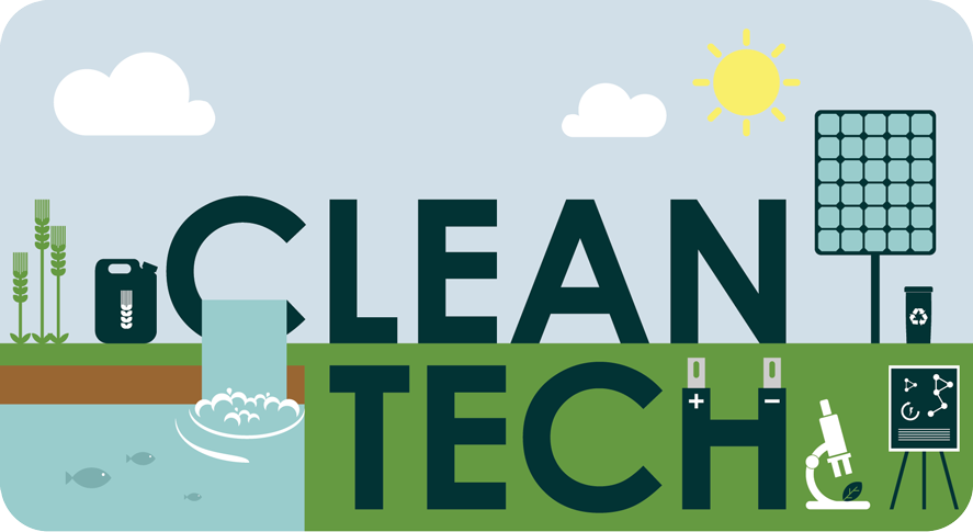 graphic with words clean tech