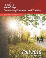 Click here to view the Winter 2018 Continuing Education and Training Guide