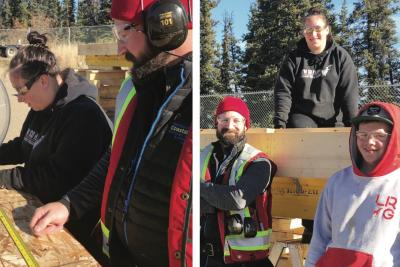 Whitehorse participants learn basic carpentry and skills for employment by building a tiny house from the ground up.