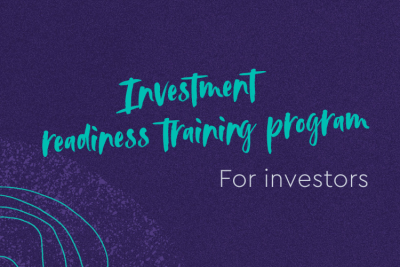 Investment Readiness Program for investors